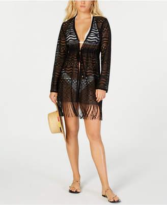 Dotti Crochet Kimono Cover-Up Women Swimsuit