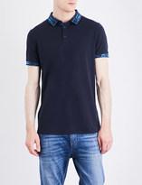 HUGO BOSS Contrast-collar jersey polo shirt