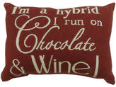 Park B Smith Park B. Smith I Run On Chocolate and Wine Decorative Pillow