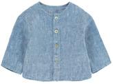 Babe & Tess Sale - Linen Mandarin Collar Shirt