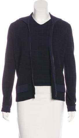 Armani Collezioni Wool-Blend Cardigan Set