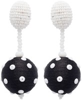 Oscar de la Renta Polka Dot Sequin Ball Earrings