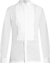 Balenciaga French-cuff pleated dinner shirt