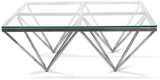 Calibre Furniture Pyramid Coffee Table Square Silver