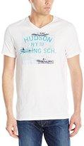 Nautica Men's Hudson Sailing School Graphic V-Neck T-Shirt