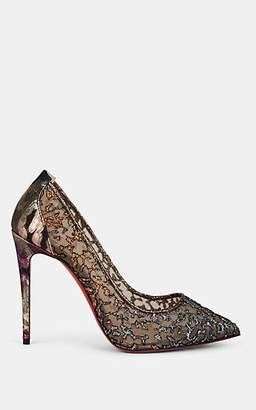 Christian Louboutin Women's Follies Floral Lace & Mesh Pumps - Multi, Roche