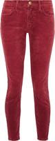 Current/Elliott The Stiletto corduroy mid-rise skinny jeans