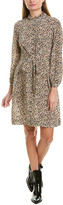 Rebecca Taylor Tie-Front Silk Shirtdress