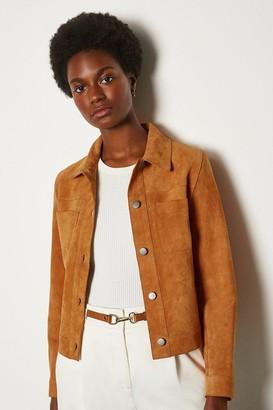 Karen Millen Suede Pocket Front Jacket