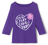 Lands' End Girls Novelty Graphic Knit Tee-Out Of This World