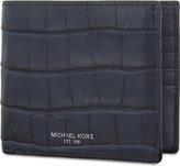 Michael Kors Bryant Crocodile-embossed Leather Wallet