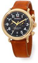 Shinola Runwell Chrono 41MM Stainless Steel & Leather Watch