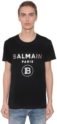 Balmain Metallic Print Cotton Jersey T-shirt