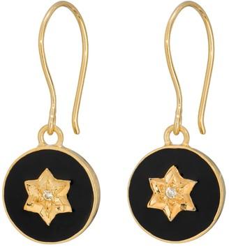 Harry Rocks North Star Earrings Black Gold