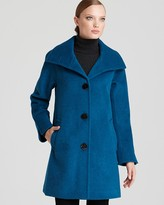 Ellen Tracy Funnel Collar A-Line Coat