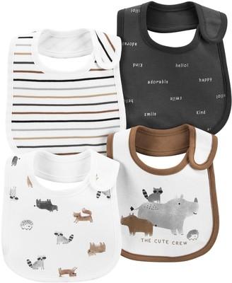 Carter's Baby 4-Pack Woodland Creatures Teething Bibs
