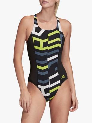 adidas SH3.RO 4Hula Swimsuit, Black/Semi Solar Shime