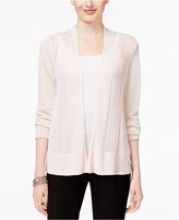 Alfani Mixed-Stitch Open-Front Cardigan, Only at Macy's