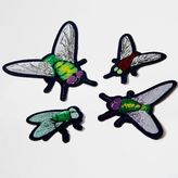 River Island Womens Green Design Forum bug badges