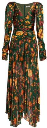 AMUR Korena Silk Maxi Dress