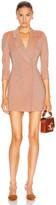 Zeynep Arcay Wool Linen Jacket Dress in Peach | FWRD