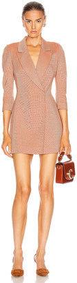 ZEYNEP ARCAY Wool Linen Jacket Dress in Peach | FWRD