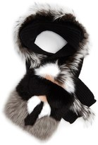 Fendi Women's 'Karlito' Genuine Fox, Genuine Mink & Genuine Nutria Fur Scarf