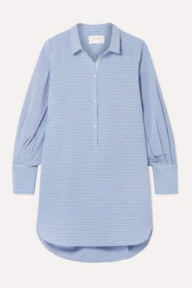 Munthe MUNTHE - History Oversized Checked Woven Tunic - Blue