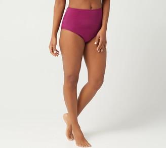Denim & Co. Beach High Waist Swim Brief