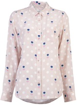 Equipment Brett floral dot shirt