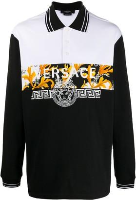 Versace Barocco Acanthus print polo shirt