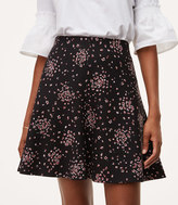 LOFT Petaled Pull On Flippy Skirt