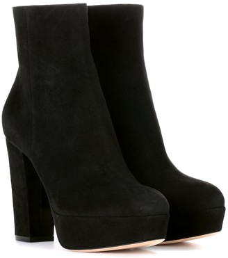 Gianvito Rossi Exclusive to mytheresa.com Suede platform ankle boots