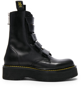 R 13 Velcro Stack Boots in Black.