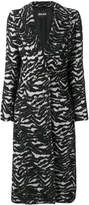 Just Cavalli long animal print coat