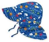 I Play Sea Friends Flap Sun Hat in Royal Blue