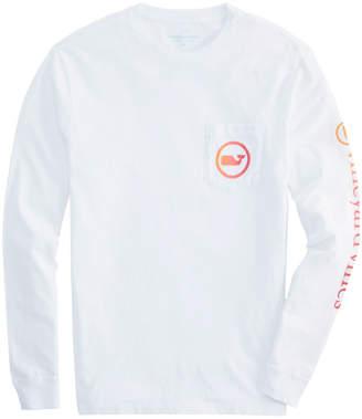 Vineyard Vines Ombre Whale Dot Long-Sleeve Pocket T-Shirt