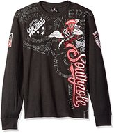 Southpole Men's Long Sleeve Graphic Thermal with Premium Vertical Logo