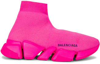 Balenciaga Speed 2 Low Top Sneakers in Neon Pink | FWRD