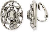 Liz Claiborne Marcasite Starburst Clip-On Earrings