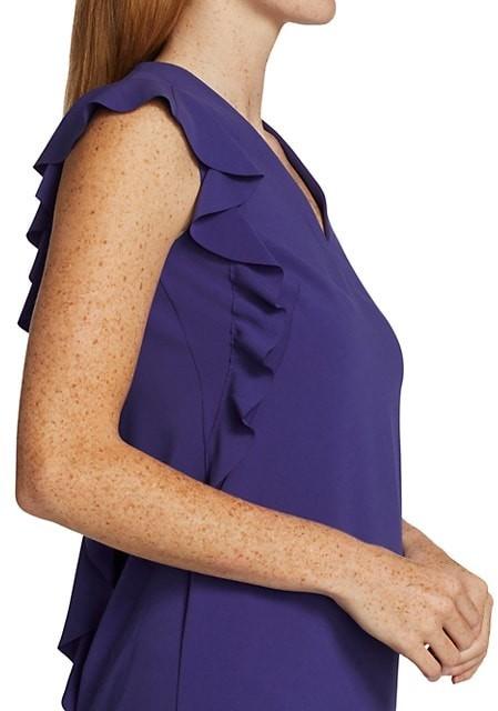 Thumbnail for your product : Akris Punto Sleeveless Ruffle Back Crepe Dress
