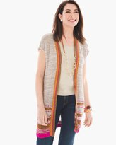 Chico's Color Pop Pattern Cardigan