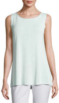 Eileen Fisher Ballet-Neck Tank, Aurora, Plus Size
