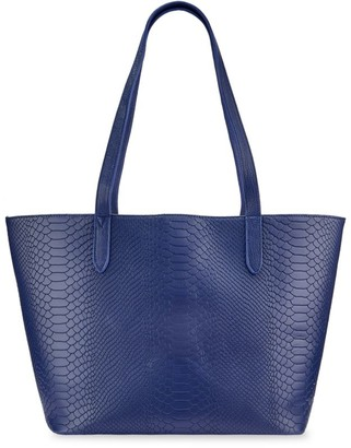 GiGi New York Tori Python-Embossed Leather Tote