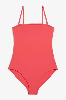 Monki High-leg swimsuit