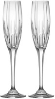 Mikasa Arctic Lights Crystal Champagne Flutes, Set of 2
