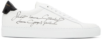 Givenchy White and Black Studio Homme Urban Knots Sneakers