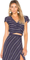 Flynn Skye That's a Wrap Crop Top in Navy. - size M (also in S,XS)
