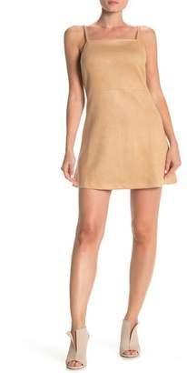 BB Dakota Fair and Square Faux Suede Mini Dress