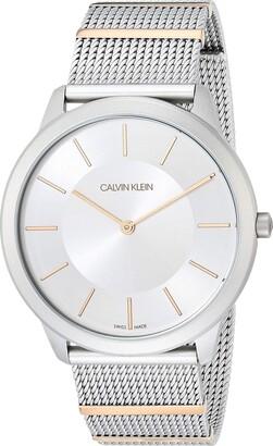 Calvin Klein Minimal Unisex Mesh and Segments Bracelet Watch